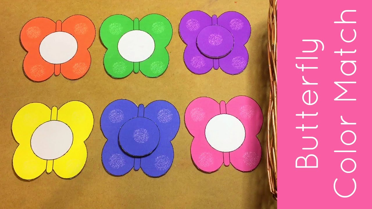 butterfly color match toddler and preschool learning youtube
