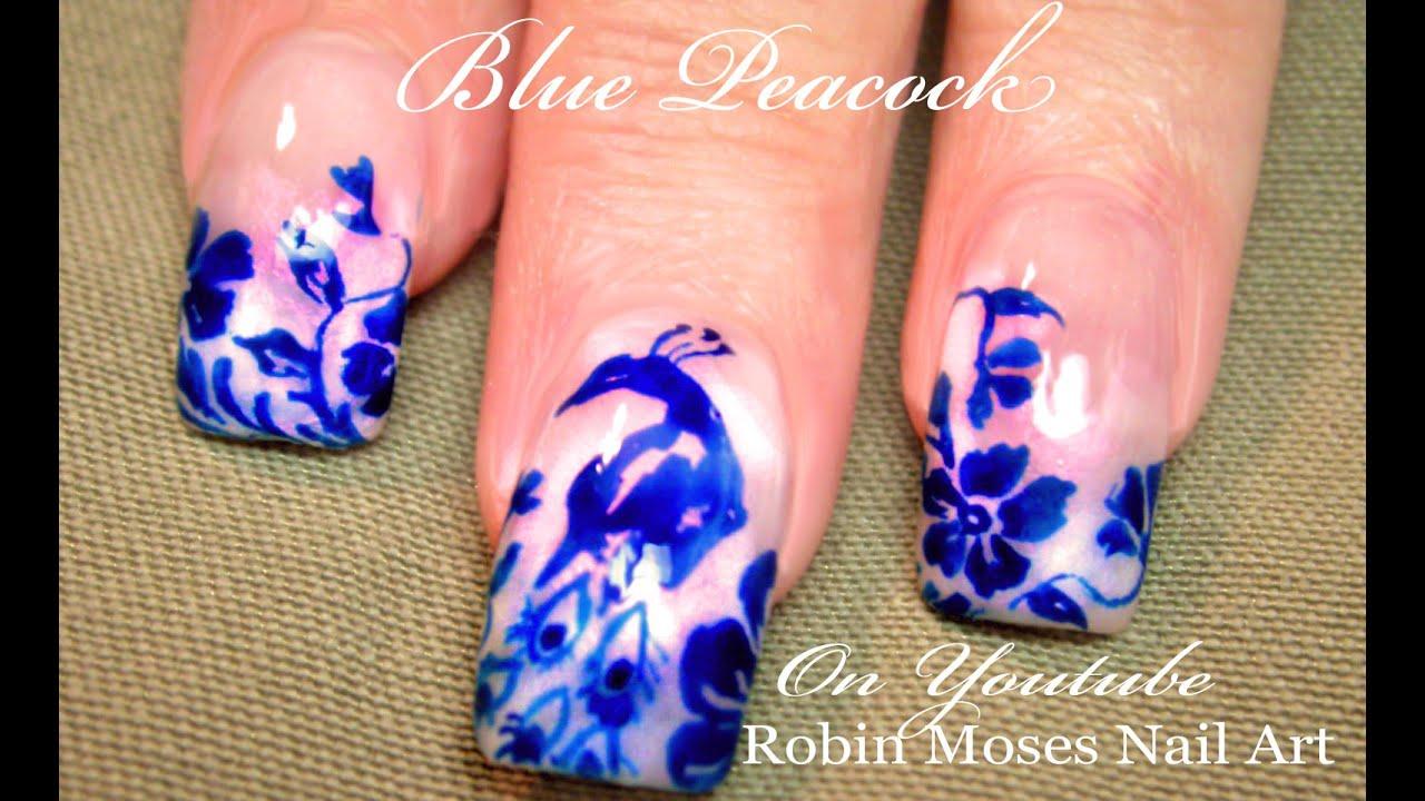 Nail Art Design Royal Blue | Hession Hairdressing