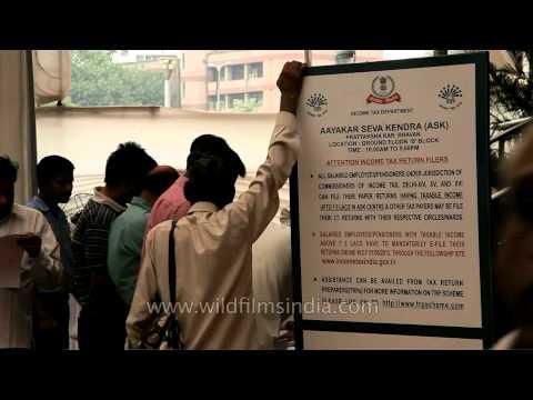 Pratyaksh kar Bhavan - Counters for tax return preparers