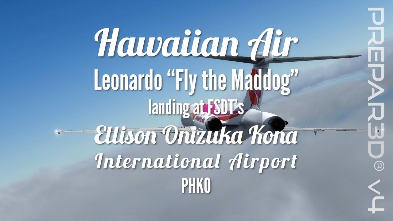 1980s Hawaiian Air Maddog landing at FSDT's Kona (PHKO) (Prepar3D V4) by  shipdriver71