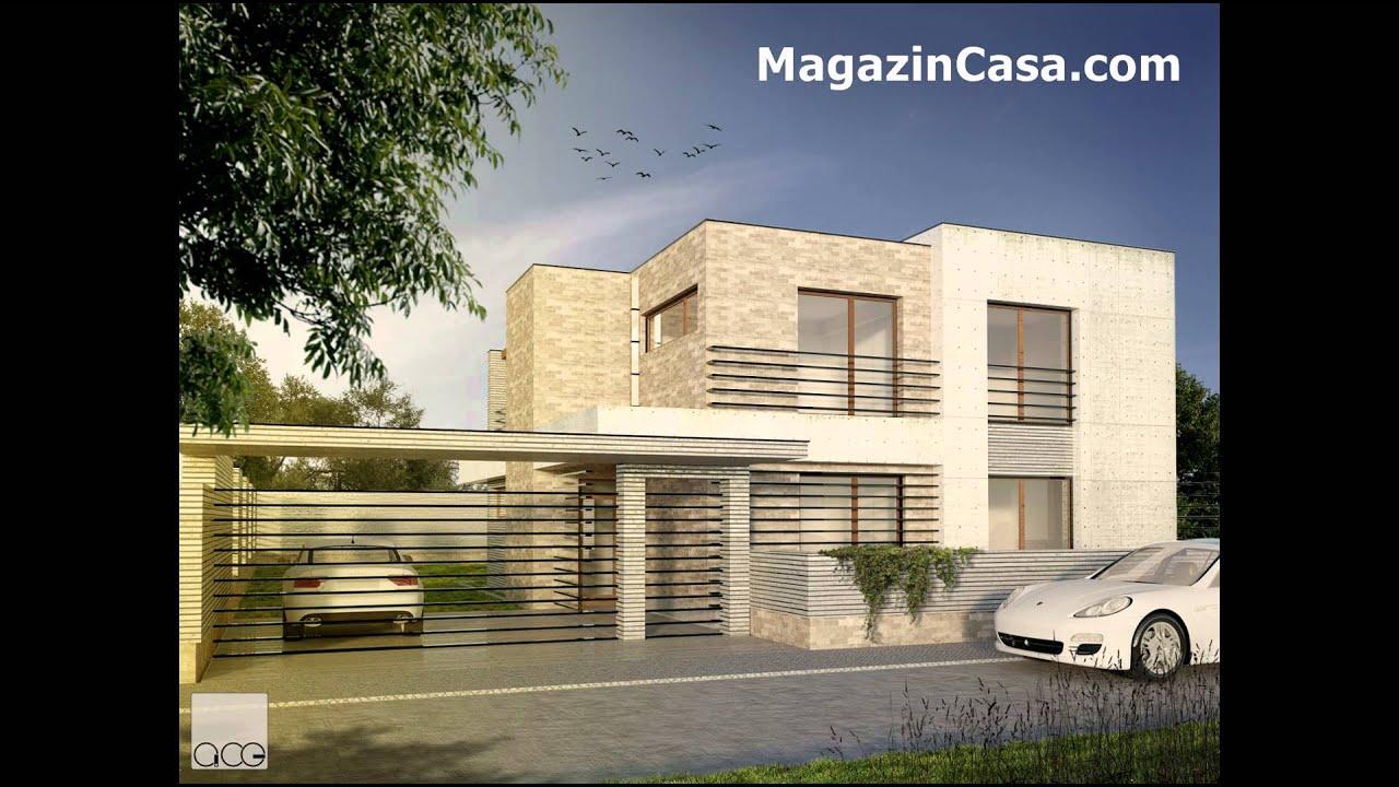 Proiecte case casa parter si etaj moderna minimalista cu for Proiecte case cu etaj si terasa