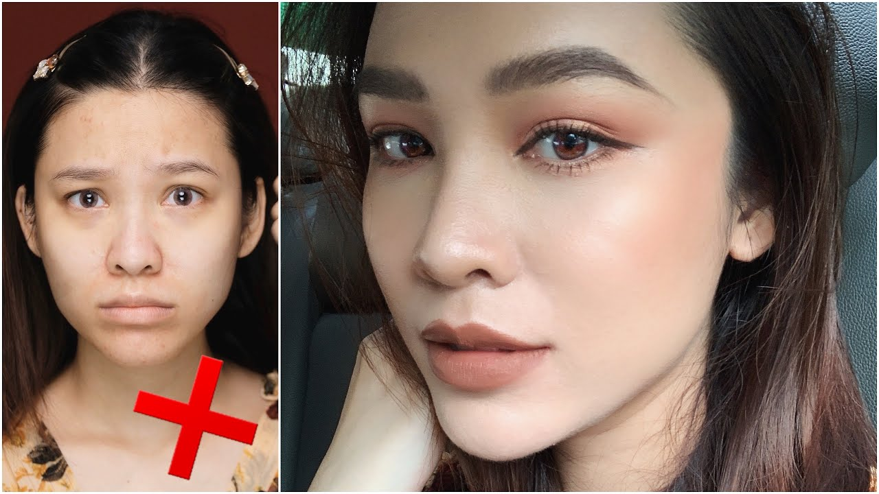 Makeup nâu tây với gương mặt đầy khuyết điểm ? | Quach Anh