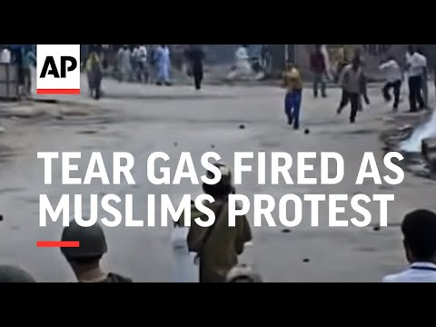 Tear gas fired as Muslims protest Hindu trade blockade