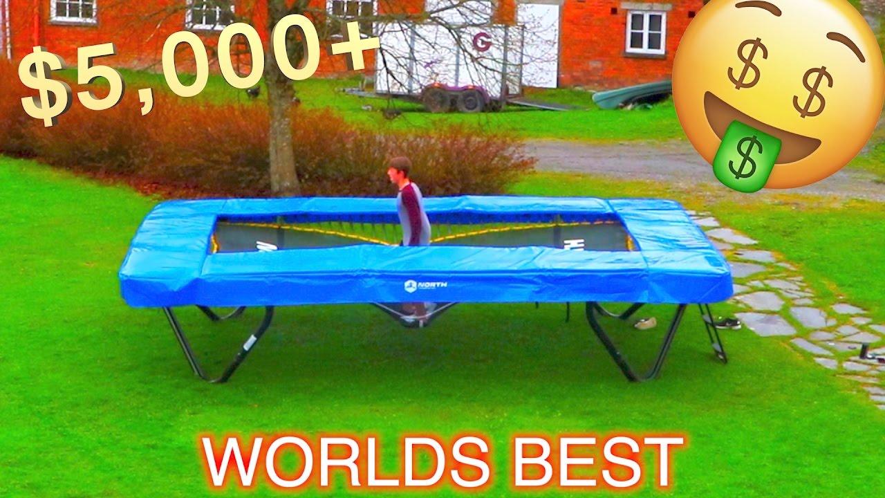 most expensive backyard trampoline crazy flips youtube