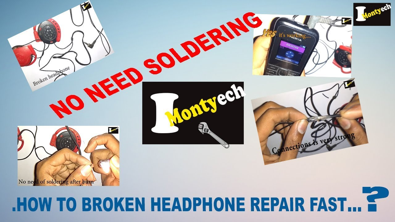 how to fix headphones without soldering