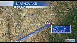4.0 magnitude Earthquake felt around Oregon