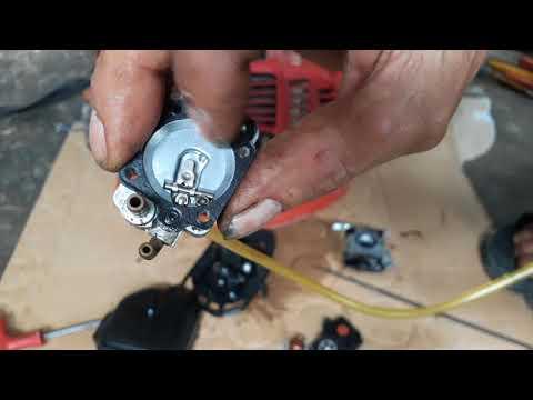 Sửa bình xăng con máy cắt cỏ cực chất dể làm   Fix the carburetor carburetor bottle to make it easy