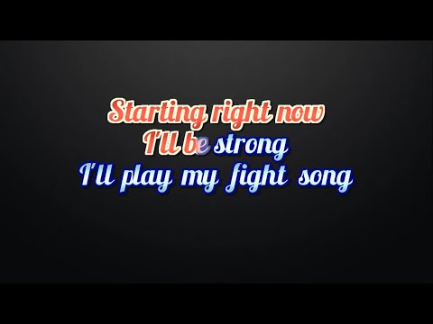 Rachel Platten   Fight Song Lyrics and karaoke