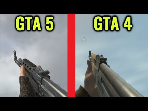 GTA 4 vs GTA 5 Gun Sounds