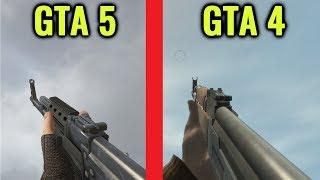 GTA 4 vs GTA 5 Gun Sounds