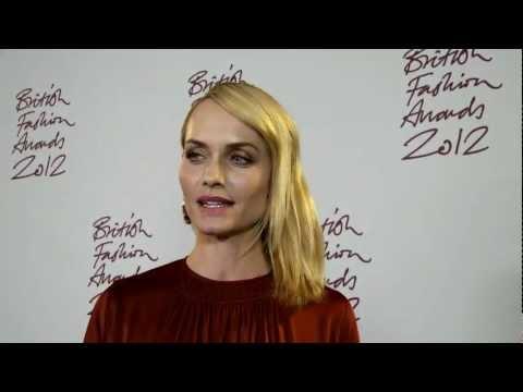 British Fashion Awards 2012, Amber Valletta Interview