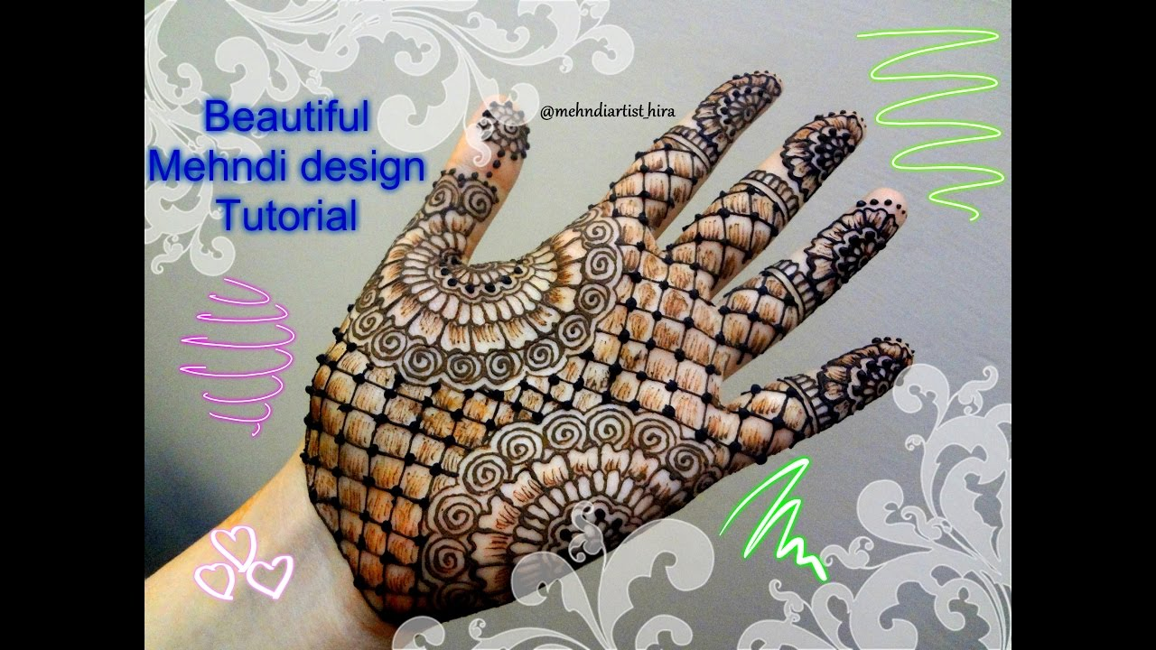 How to apply easy simple palm mehndi designs for hands tutorial for eid and  weddings