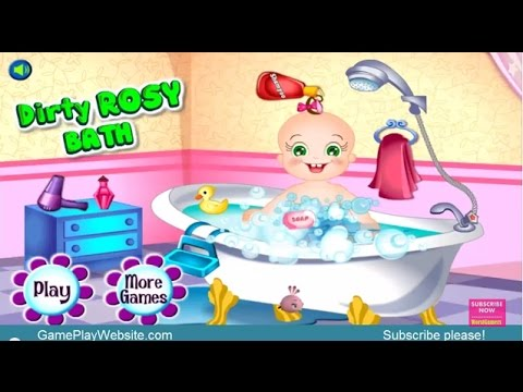 Baby Dirty Rosy Bath Online Game For Children Baby Games