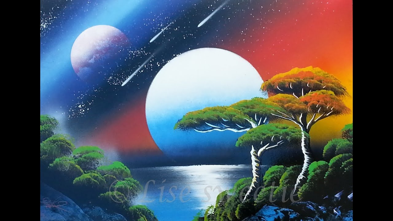 spray paint art - Night and day - beautiful custom made ...