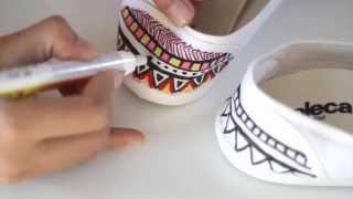 Como fazer uma sapatilha étnica