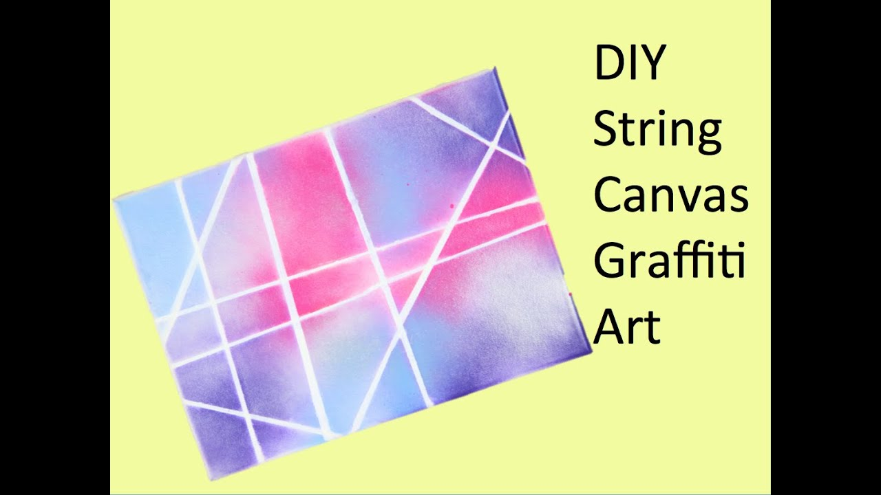 Graffiti art diy - Diy String Canvas Graffiti Art