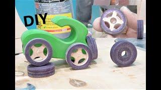 dIY / Деревянные колеса своими руками/ изготовление игрушек советы toy making tips Radugagrad