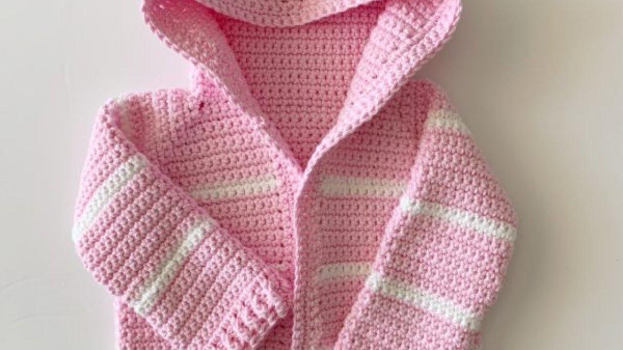 Pink Single Crochet Baby Sweater Youtube