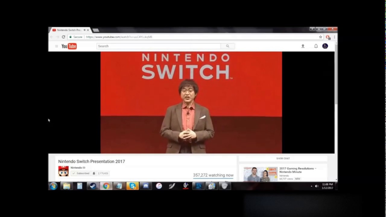 Nintendo Switch Conference 2017 group chat