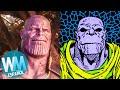 ¡Top 10 DIFERENCIAS entre la PELÍCULA de Infinity War y el CÓMIC!