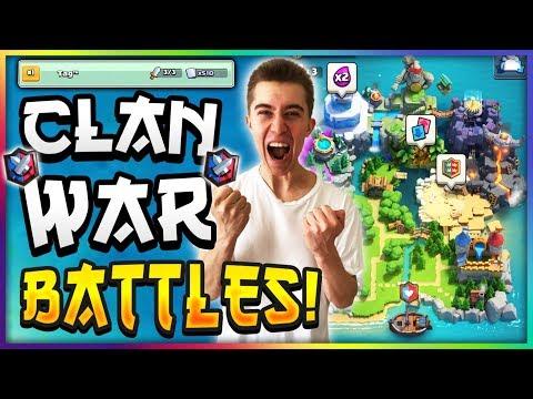 BEST DECK FOR WAR DAY! Clash Royale Clan Wars Tips & Tricks!
