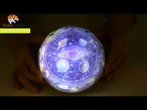 Rotating Galaxy Planetarium Globe Projector Night Light - Review, Unbox And Installation