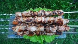 Шашлык , Самый сочный Шашлык! Рецепт маринования мяса, свиной крестец