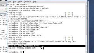 Installation et configuration le service OPEN LDAP sous linux ( Fedora 11 )