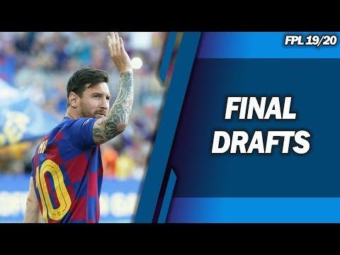 FINAL DRAFTS! - CHAMPIONS LEAGUE FANTASY FOOTBALL 2019/2020!