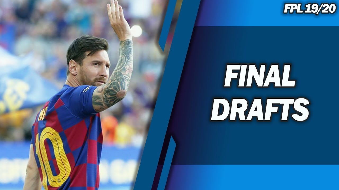 Fifa World Cup 2020 Fantasy.Final Drafts Champions League Fantasy Football 2019 2020