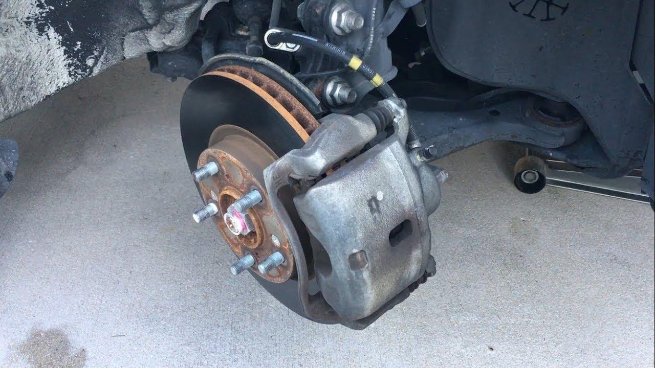 2012 2015 honda civic front brake pad replacement diy [ 1280 x 720 Pixel ]