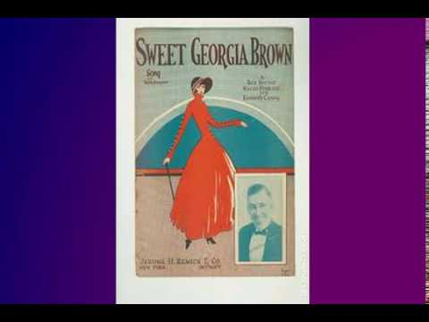 Sweet Georgia Brown - sing along with lyrics