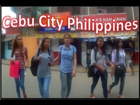 Walk around Cebu City Philippines - Jollibee, Cybergate & Tour of the Area ✅