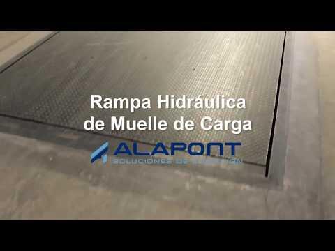 Rampa hidraulica de Alapont Logistics para muelles de carga