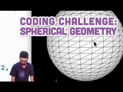 Coding Challenge #25: Spherical Geometry
