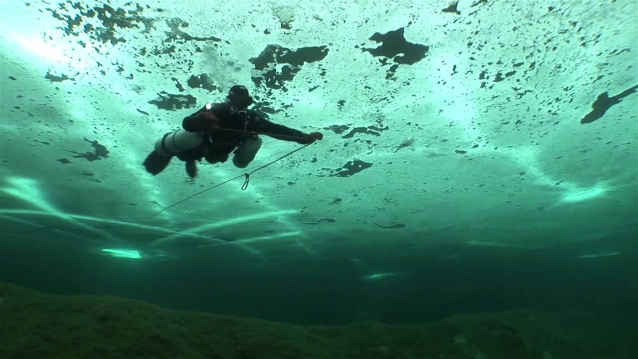 Razor Side By Side >> Razor Side Mount Ice Diving - YouTube