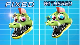 Fixed VS Withered GLAMROCK Animatronics in Five Nights at Freddy's 9 Security Breach