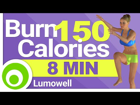 8 Minute Cardio Workout to Burn 150 Calories