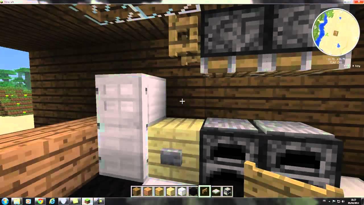 Tuto minecraft d cocraft 2 cuisine youtube for Cuisine minecraft