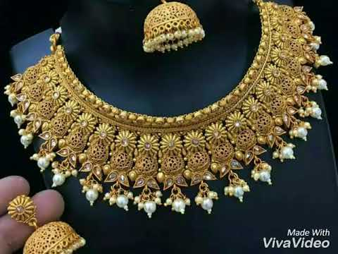 Gold Bridal Jewelry|Pakistani Jewelry-2017| HD | New Jewelry design