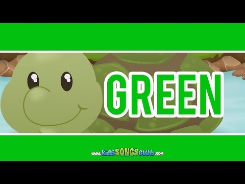 The Color Green Song |  Kids Songs with Action And Lyrics | KidsSongsClub Nursery Rhyme