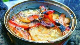 Thunfisch in der Dose Kochen (das Öl in der Dose brennt!) - ideal für Outdoor & Survival