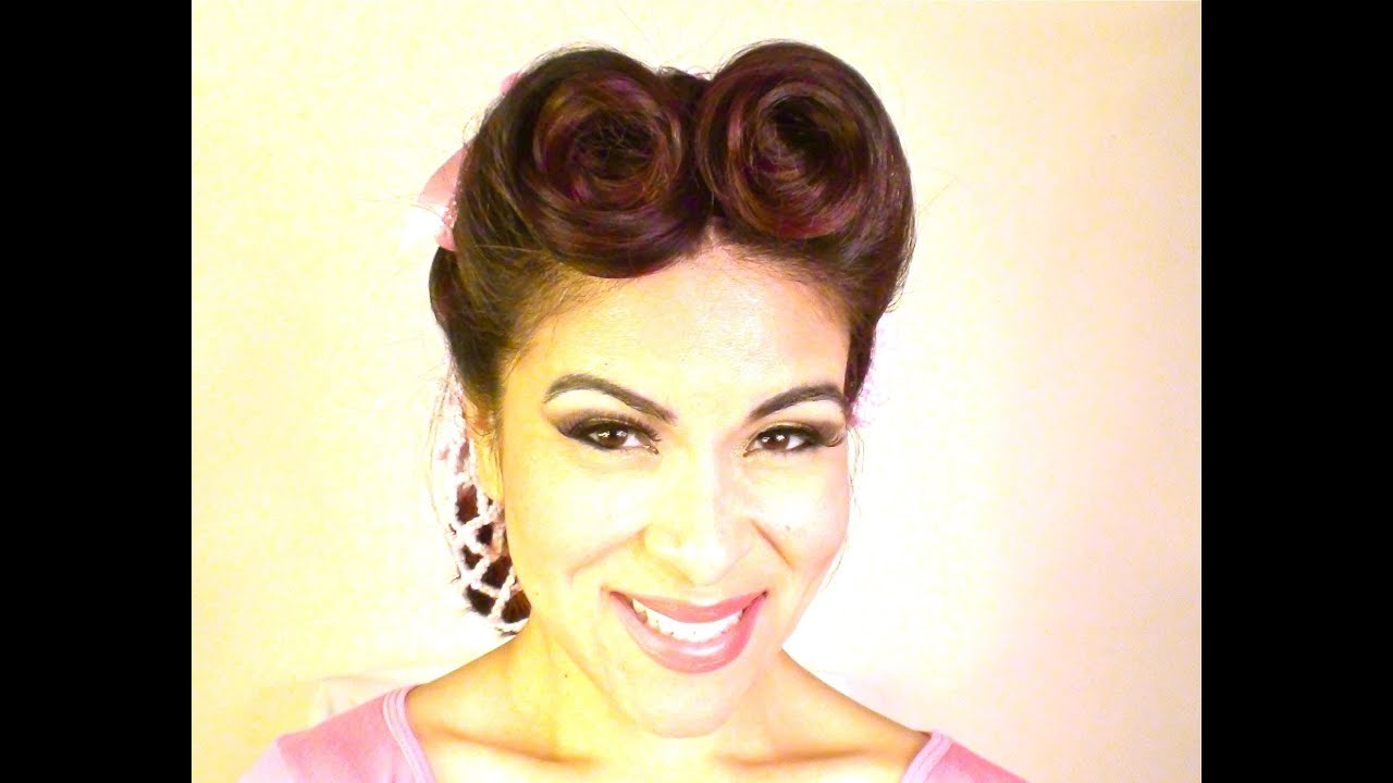 easy vintage- updo with snood