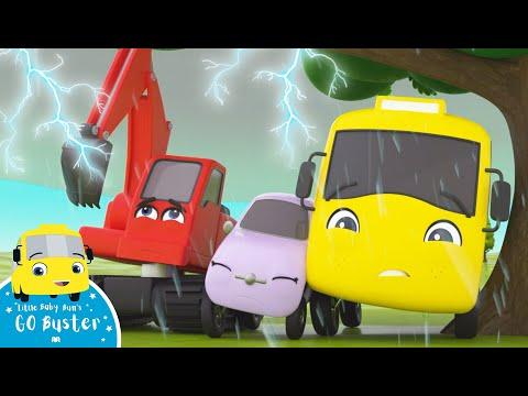 Rain Rain Go Away Song! Go Buster | Nursery Rhymes & Kids Songs | Little Baby Bum