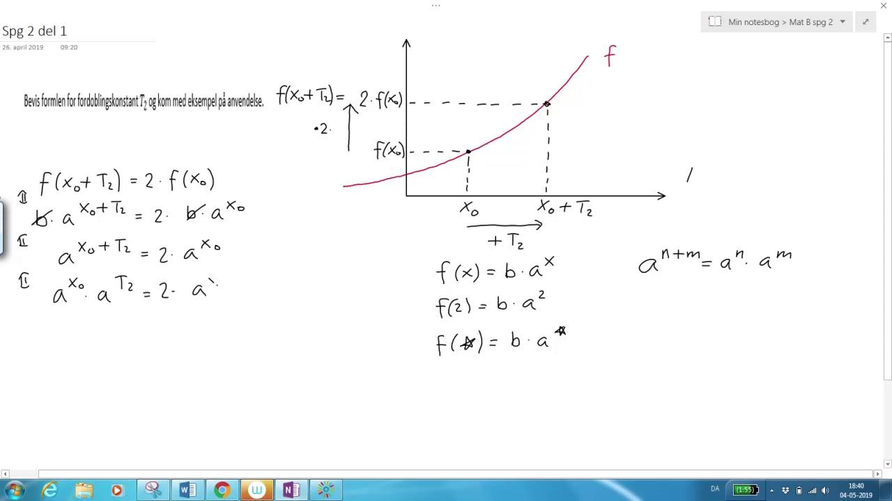 Eksponentiel funktion Bevis for T2