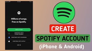 How to Create Spotify Account On iPhone