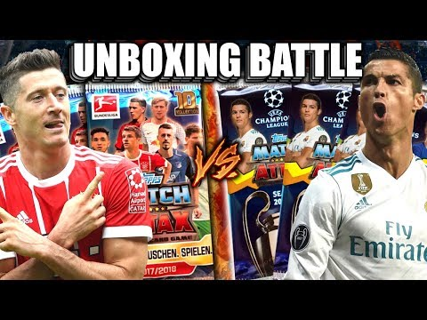 Match attax 17/18 unboxing battle bundesliga vs champions league (deutsch)