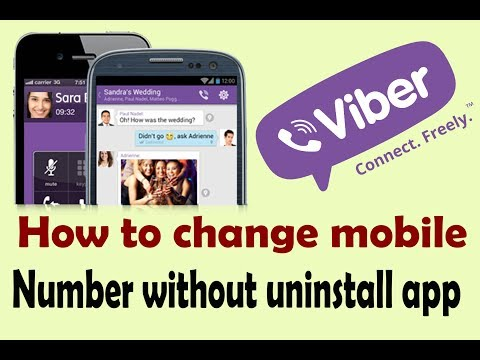 How to change Viber phone number/name/profile photo without uninstall app