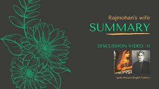 Rajmohan's Wife - Detailed Summary | Bankim Chandra | IGNOU MEG10 | CU Sem 2 notes | English Studies