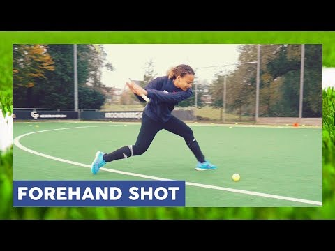 Forehand Shot High On Goal - Field Hockey Technique | HockeyheroesTV